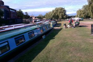Safely moored at Stratford-upon-Avon...eventually