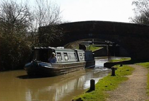 Narrowboat boat on the canal