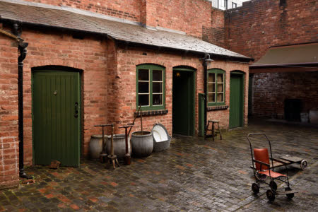 The communal courtyard at Birmingham Back to Backs, West Midlands